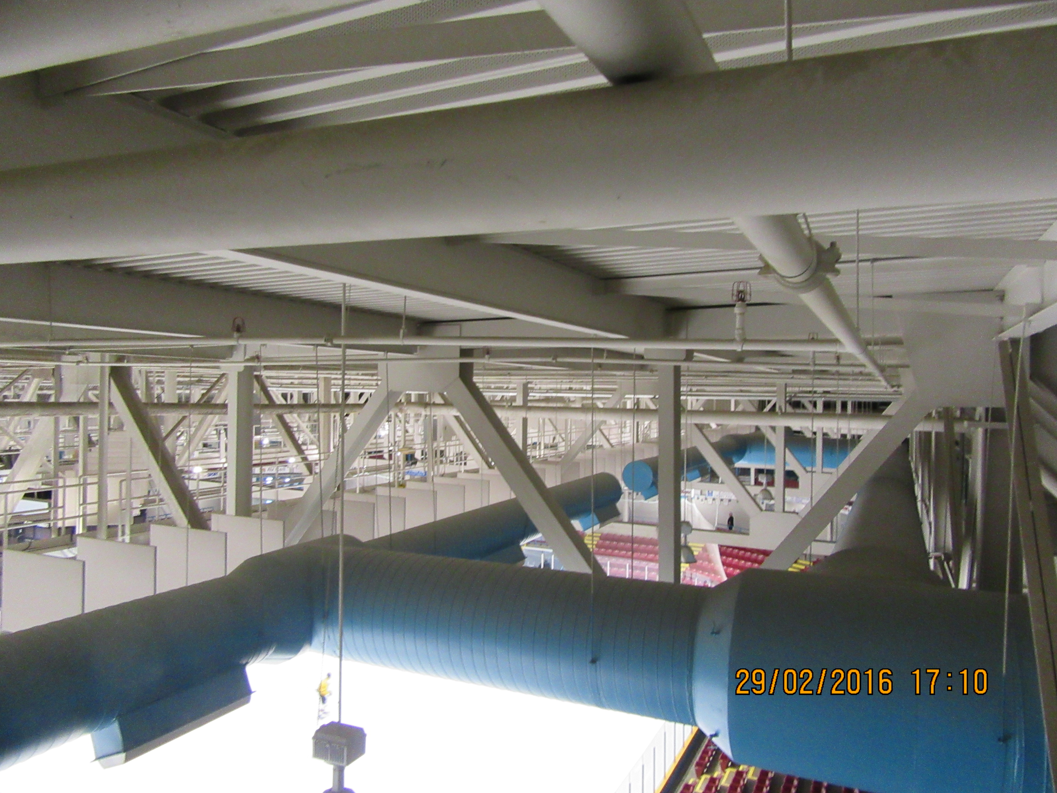 Campbellton Arena the roof structure